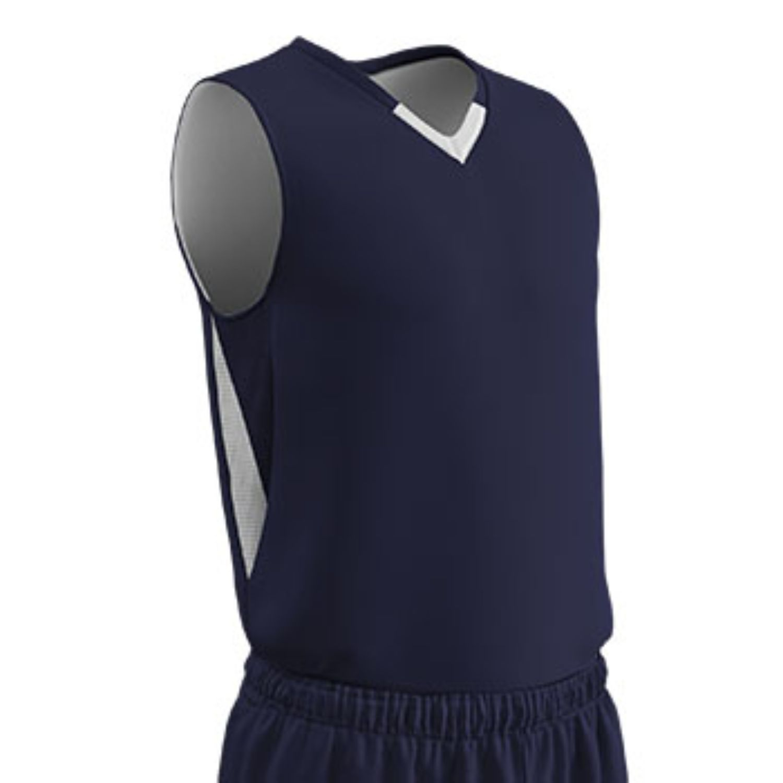 Champro Adult Pivot Reverse Basketball Jersey Navy White XL