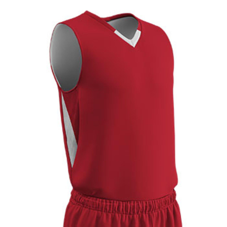 Champro Youth Pivot Reverse Basketball Jersey Scar White LG