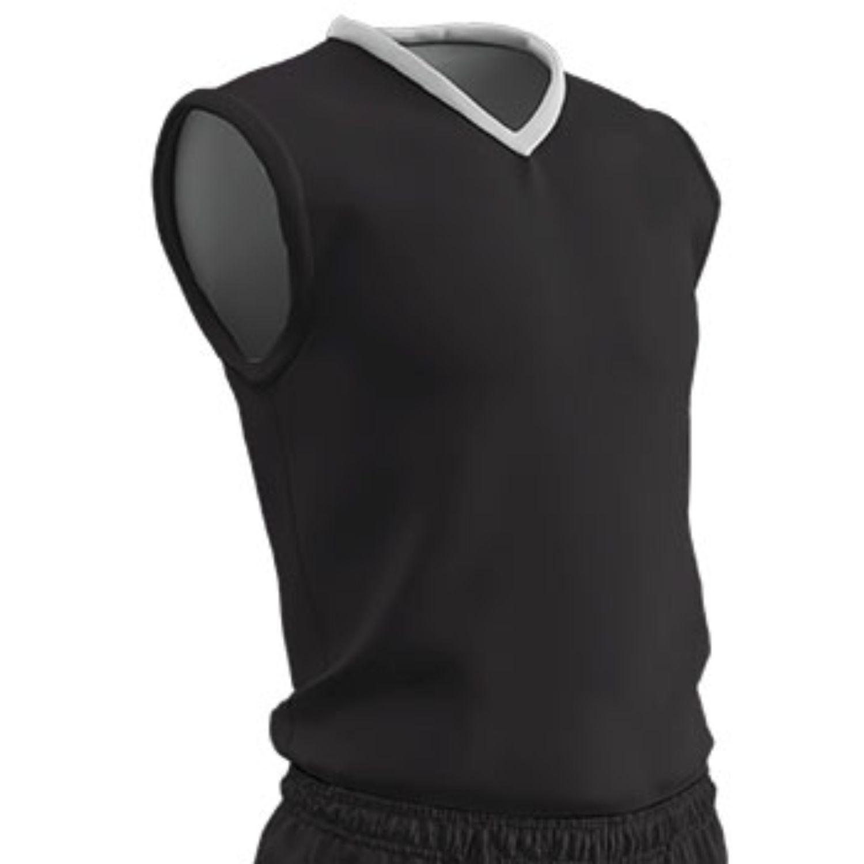 Champro Adult Clutch Basketball Jersey Black White 2XL