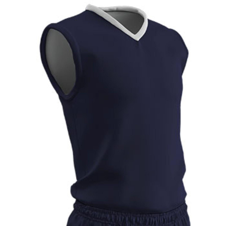 Champro Adult Clutch Basketball Jersey Navy White 3XL
