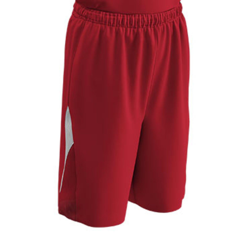 Champro Adult Pivot Basketball Short Scarlet White XL