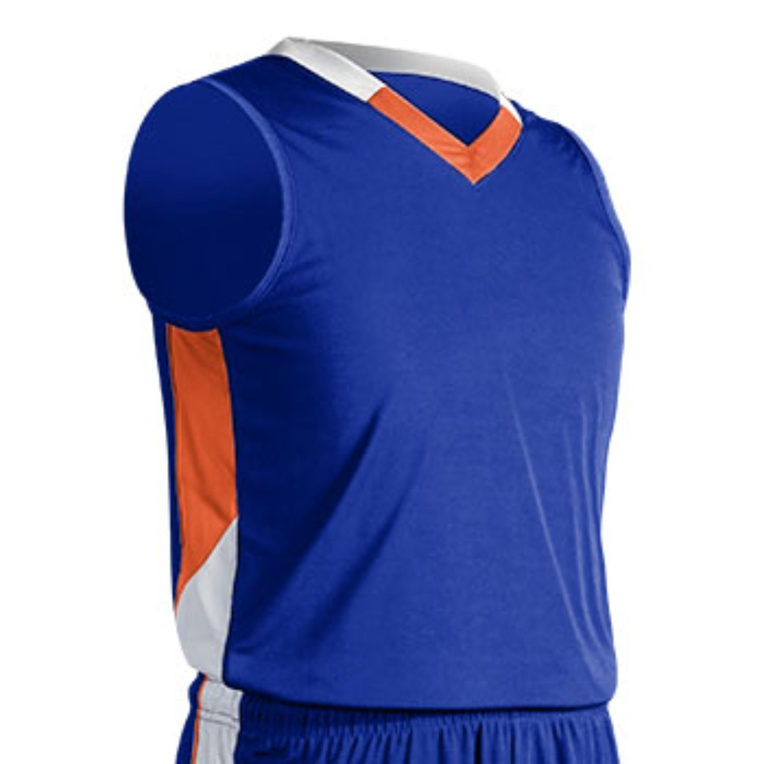 Champro Youth Rebel Basketball Jersey Roy ORG Wht Small