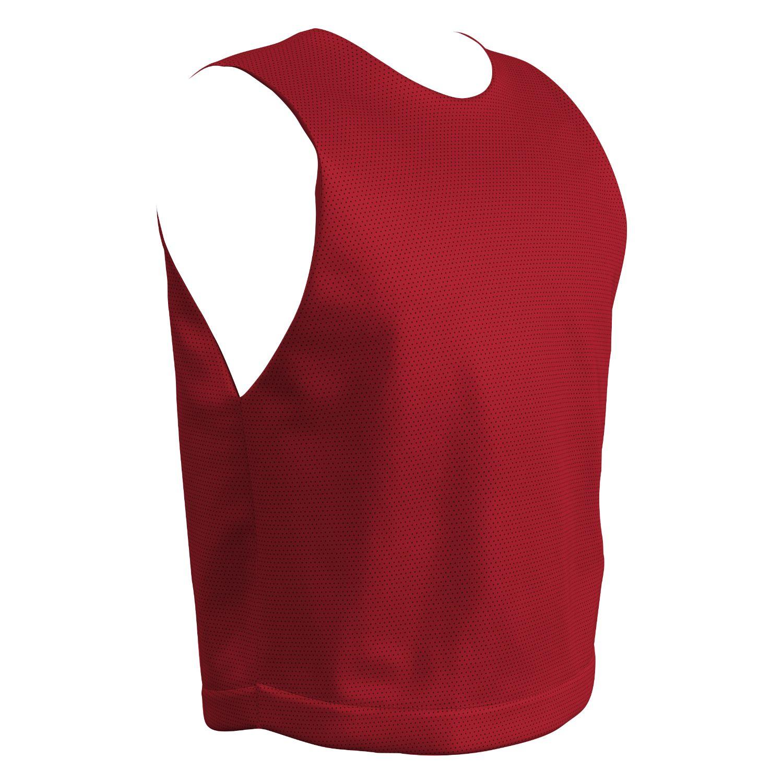 Champro Youth STICK Lacrosse Jersey Scarlet White Medium