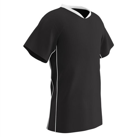 Champro Adult Header Soccer Jersey Black Black White Medium