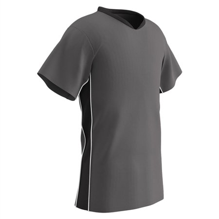 Champro Adult Header Soccer Jersey Charcoal Black White XL