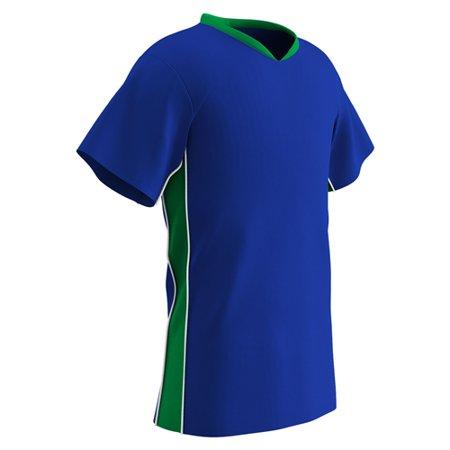 Champro Adult Header Soccer Jersey Royal Neon Green White SM