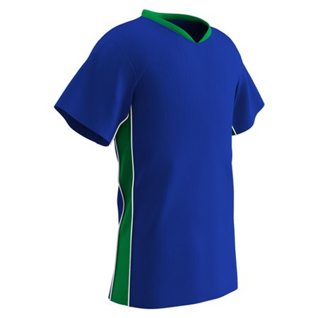 Champro Adult Header Soccer Jersey Royal Neon Green White XL