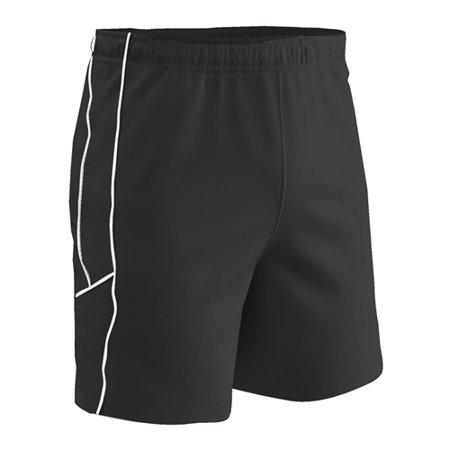 Champro Adult Header Soccer Short Black Black White Small