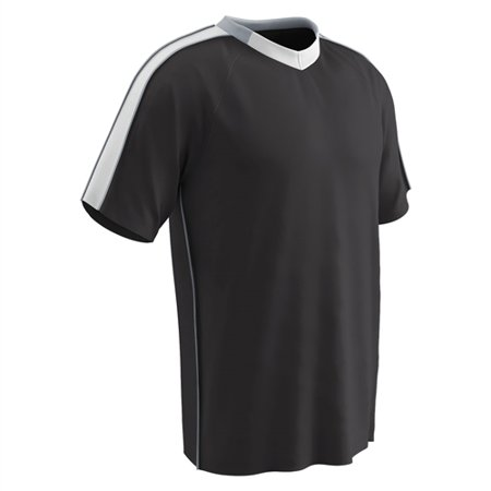 Champro Adult Mark Soccer Jersey Black White Silver Small