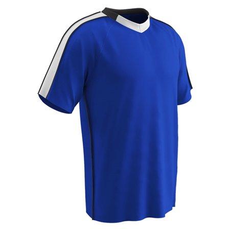 Champro Adult Mark Soccer Jersey Royal White Black Medium