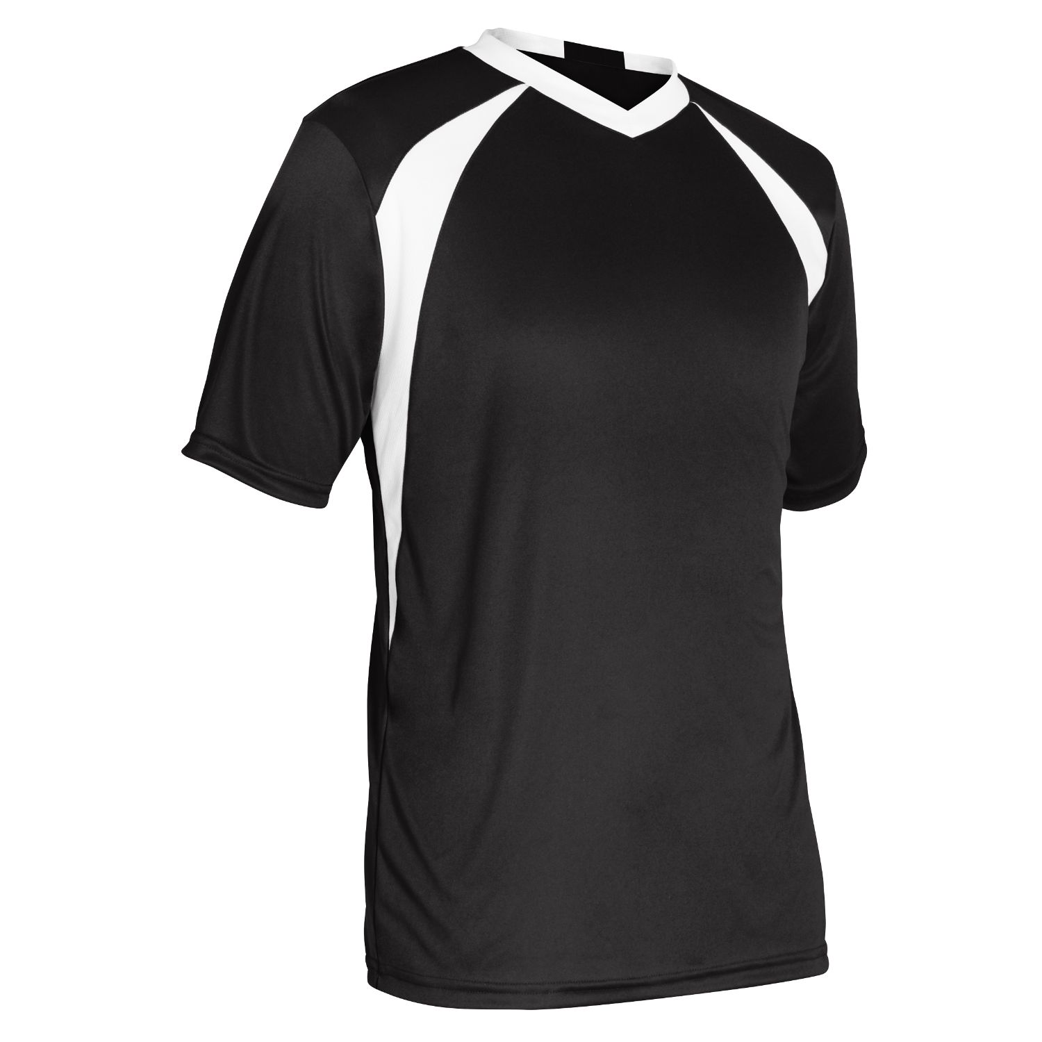Champro Adult Sweeper Soccer Jersey Black White Extra Large