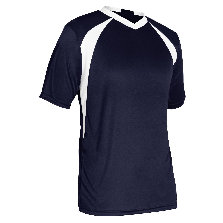 Champro Adult Sweeper Soccer Jersey Navy White Medium