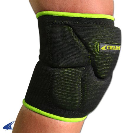 Champro Pro Plus Low Profile Knee Pad Black Optic Yellow MED
