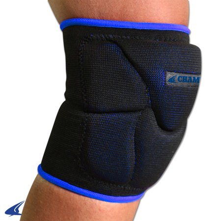 Champro Pro Plus Low Profile Knee Pad Black Royal Medium