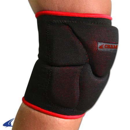 Champro Pro Plus Low Profile Knee Pad Black Scarlet Medium