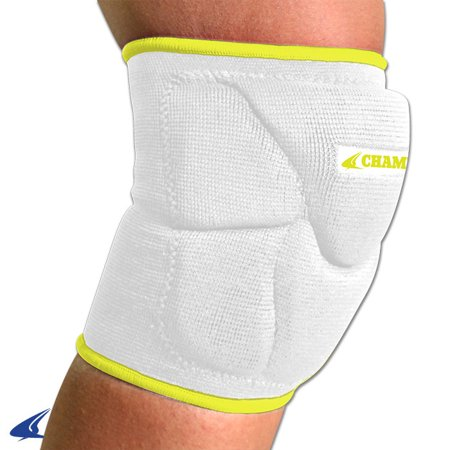 Champro Pro Plus Low Profile Knee Pad White Optic Yellow MED