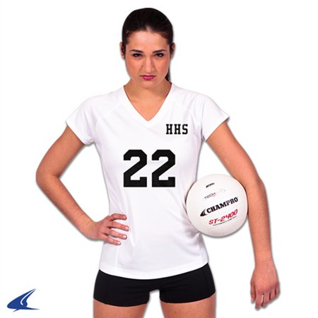 Champro SPIKE Ladies Volleyball Jersey White White Large