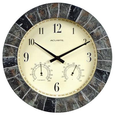 "AcuRite 14"" Outdoor Clock Combo"