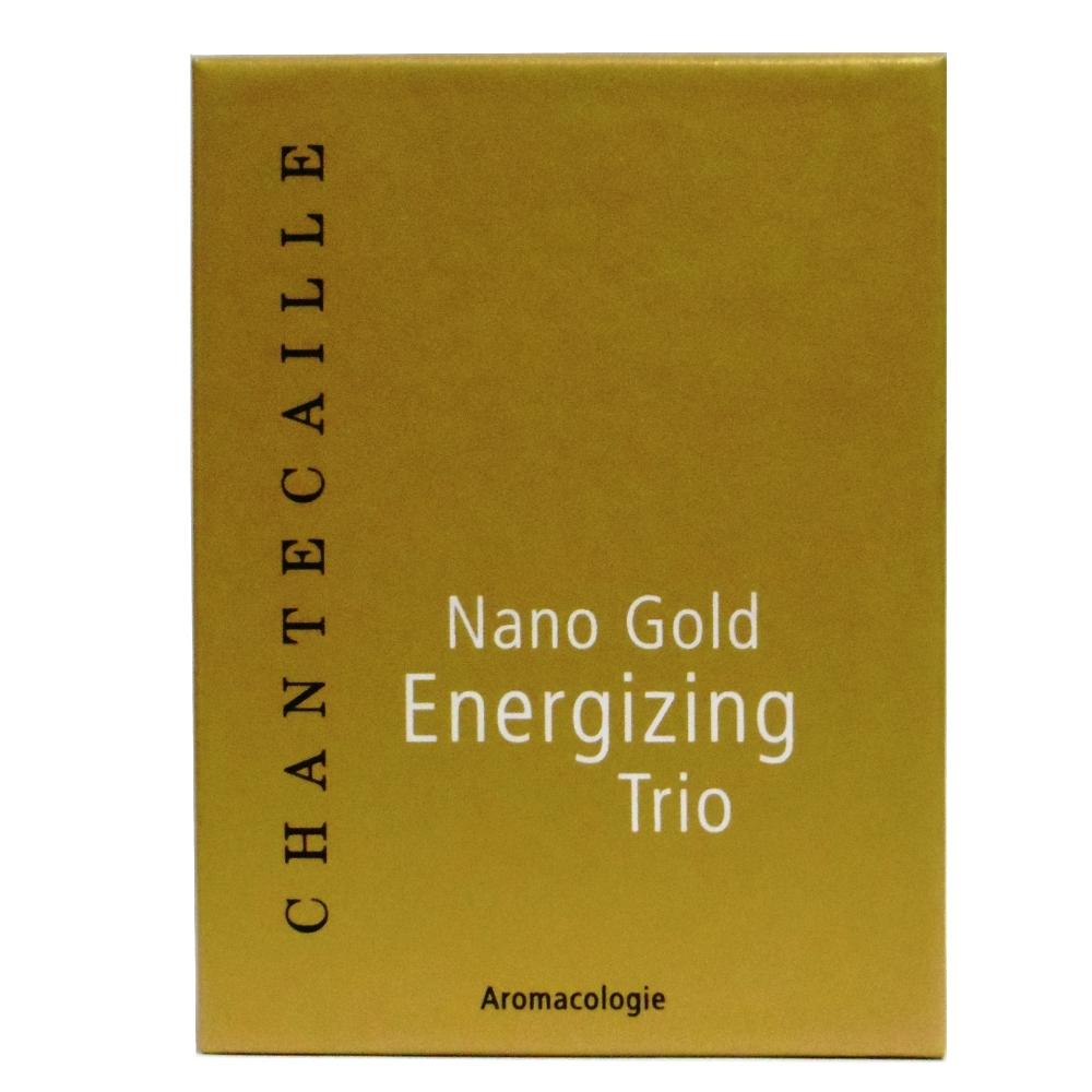 Chantecaille Nano Gold Energizing Trio: Firming treatment 50 ml + face cream 15 ml + eye cream 15 ml 3pcs