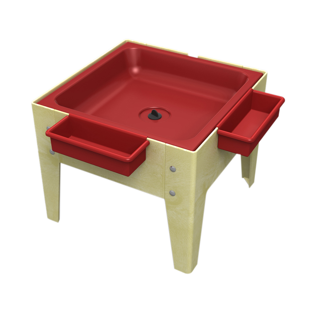 """Childbrite 18"""" Sand and Water Activity Center Toddler-Mite 1 Red Drip Pan with Drain Sandal"""