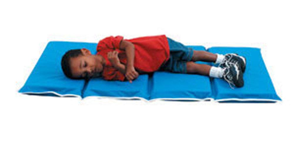 """Children's Factory Kids Room Nursery 1"""" Tough Duty Folding Rest Mat - 10 pack"""