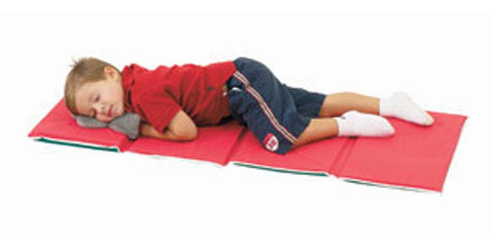 Children's Factory Kids Room Nursery Pillow Folding Rest Mat - 10 Pack
