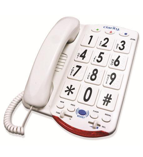 76557.101 50dB Phone Large White Keys