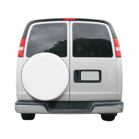 CUSTOM FIT SPARE TIRE COVER SNO WHT-MDL 4 -6-CS