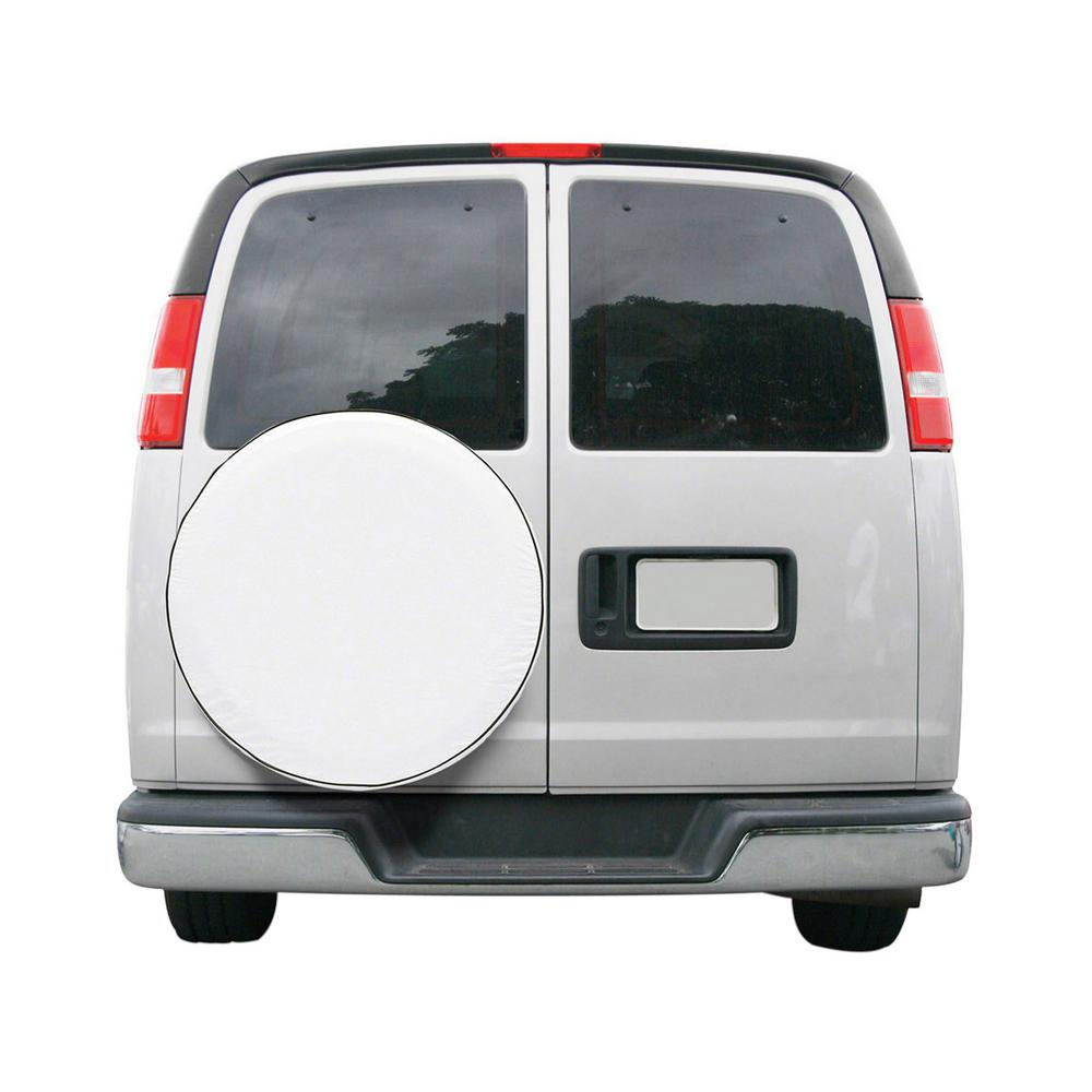 CUSTOM FIT SPARE TIRE COVER SNO WHT-MDL 6 -6-CS