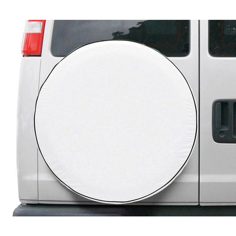 CUSTOM FIT SPARE TIRE COVER SNO WHT-MDL 8 -6-CS