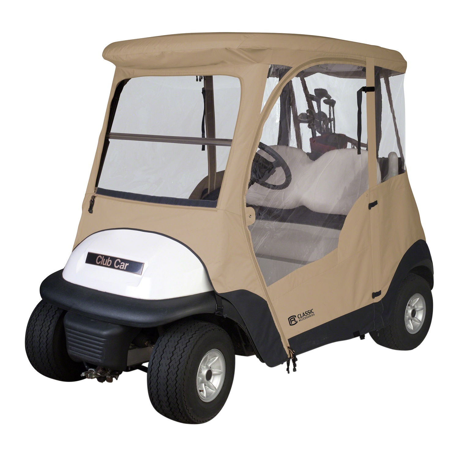 Classic Fairway Club Car Precedent Enclosure - Sand