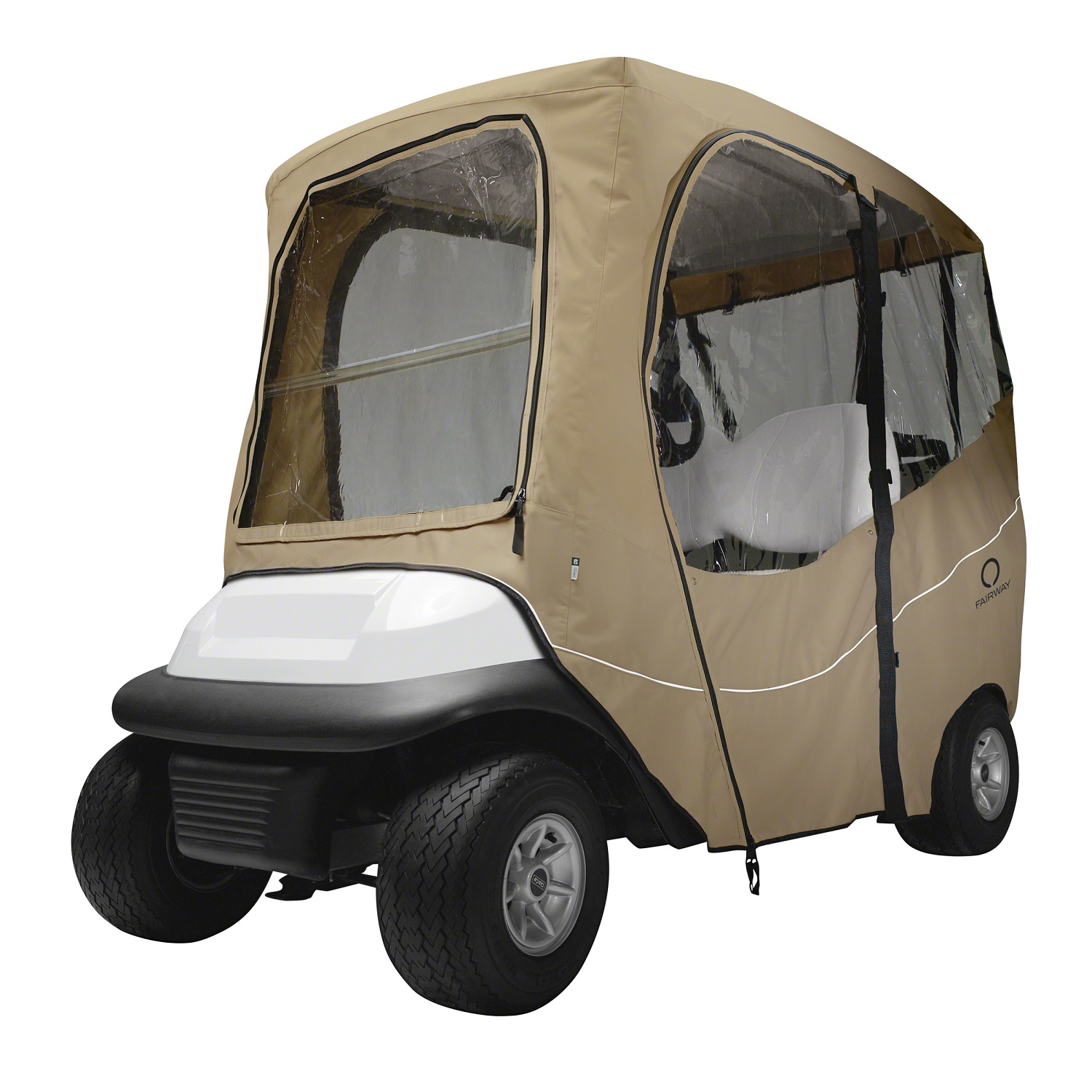 Fairway Golf Cart Deluxe Enclosure Short Roof - Khaki