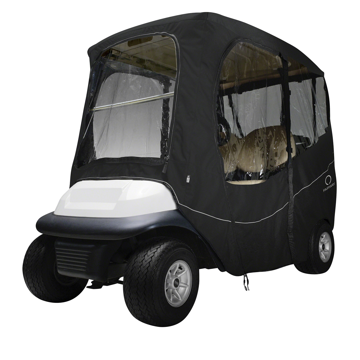 Fairway Golf Cart Deluxe Enclosure Short Roof - Black