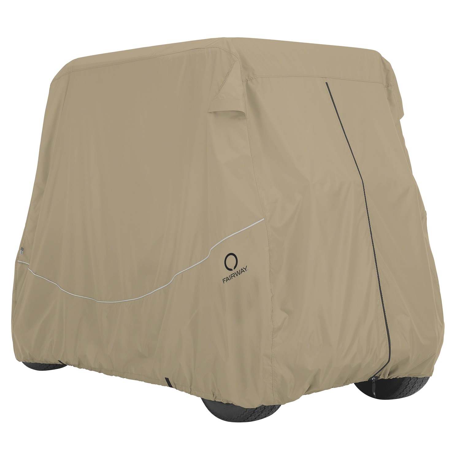 Fairway Golf Cart Quick-Fit Cover Short Roof - Khaki
