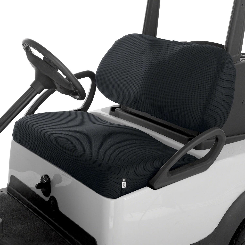 Fairway Golf Cart Diamond Air Mesh Seat Cover - Black
