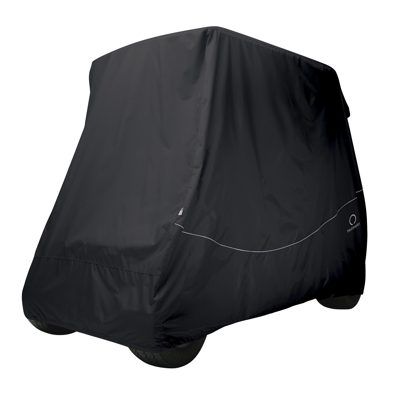 Fairway Golf Cart Quick-Fit Cover Short Roof - Black