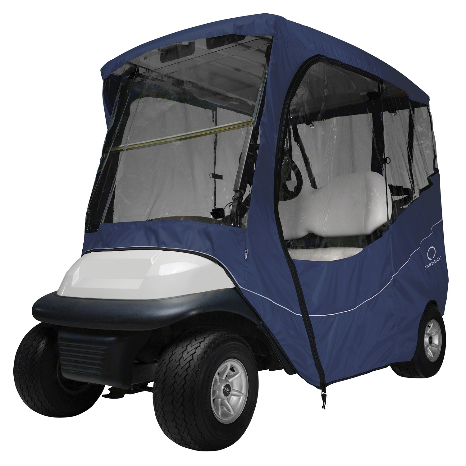 Fairway Travel Golf Cart Short Roof Enclosure - Navy