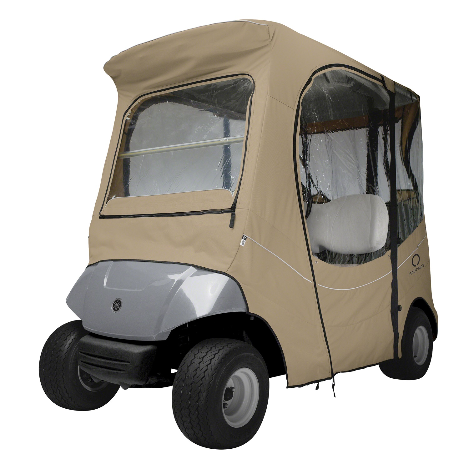 Fairway FadeSafe Yamaha The Drive Golf Cart Enclosure-Khaki