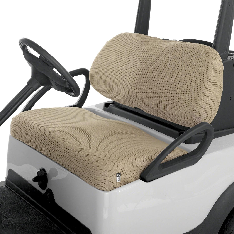 Fairway Golf Cart Diamond Air Mesh Seat Cover - Khaki