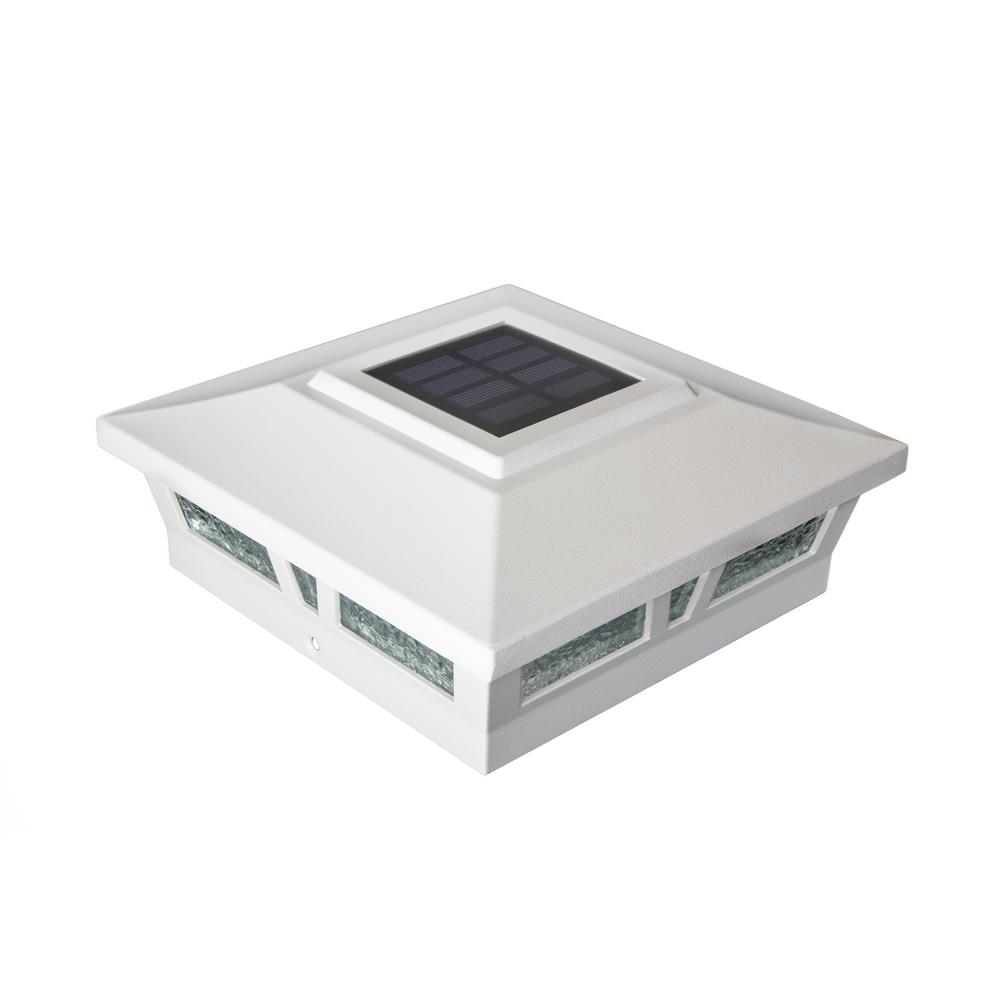 6x6 WHITE ALUMINUM OXFORD SOLAR POST CAP