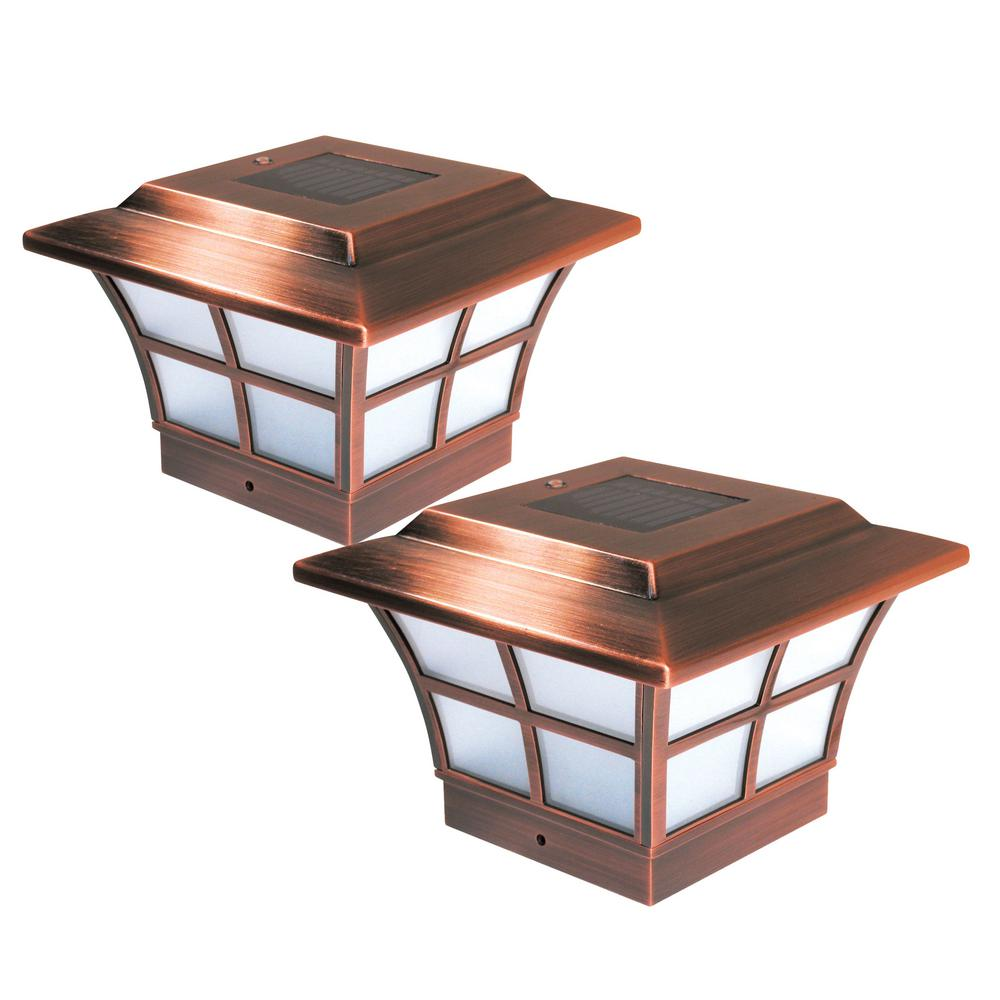 "4""x4"" Copper Plated Prestige Solar Post Cap"
