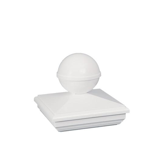 Classy Caps Mfg. Inc. 4X4 NEW ENGLAND BALL PVC POST CAP per EA