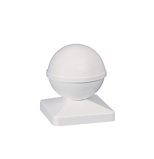 4x4 BALL PVC POST CAP