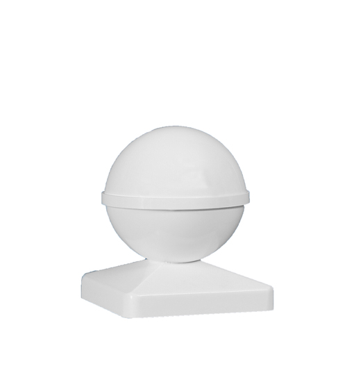 5x5 BALL PVC POST CAP