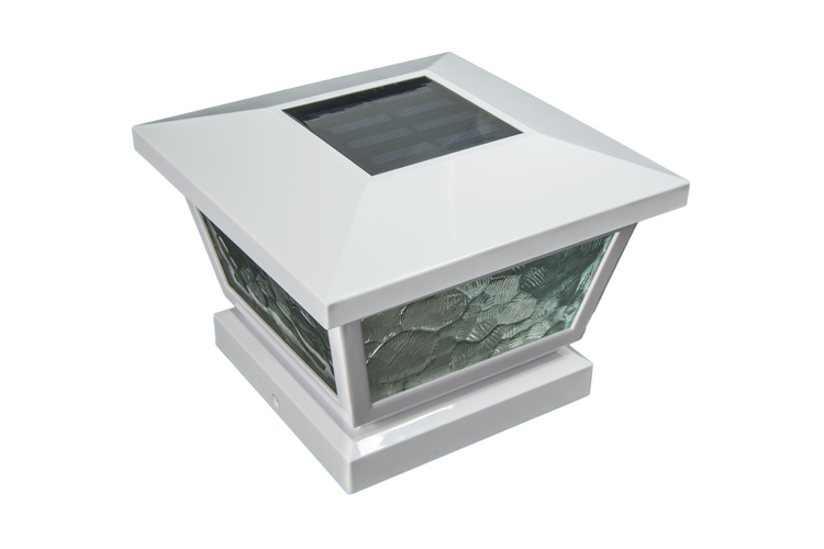 5x5/4x4/3.5x3.5 WHITE FAIRMONT  SOLAR POST CAP