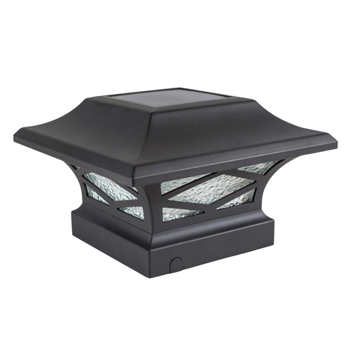 KINGSBRIDGE BLACK DUAL LIGHTED SOLAR POST CAP