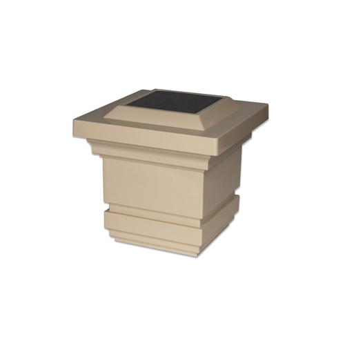 4x4 TAN PVC CLASSY SOLAR POST CAP