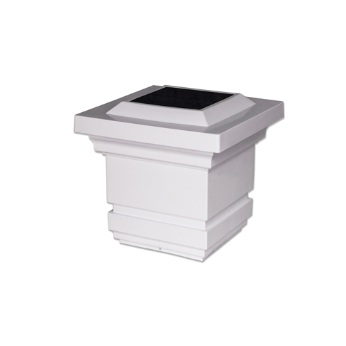 4x4 WHITE PVC CLASSY SOLAR POST CAP