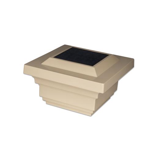 4x4 TAN PVC REGAL SOLAR POST CAP