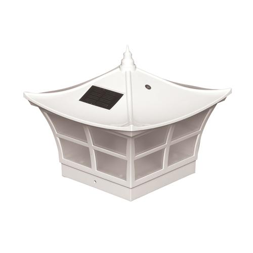 5x5 WHITE PVC AMBIENCE SOLAR POST CAP